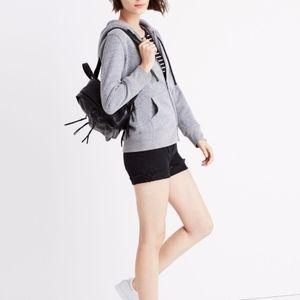 madewell | messenger zip front hoodie sz L